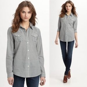 ELIZABETH & JAMES Gingham button down #V02